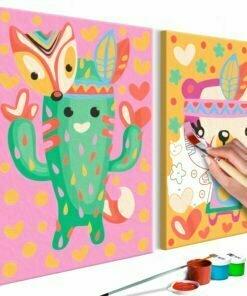 Doe-het-zelf op canvas schilderen - Cactus & Bear-1