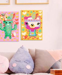 Doe-het-zelf op canvas schilderen - Cactus & Bear-2