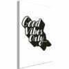 Schilderij - Positive Vibes (1 Part) Vertical-1