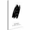Schilderij - Zodiac Signs: Aquarius (1 Part) Vertical-1