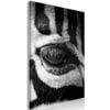 Schilderij - Zebra Eye (1 Part) Vertical-1