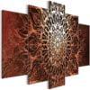 Schilderij - Hypnosis (5 Parts) Orange Wide-1