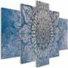 Schilderij - Hypnosis (5 Parts) Blue Wide-1